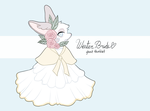 winter bride. thimblet auction. OPEN. by loppyrae