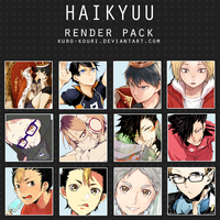 haikyuu render pack by kuro-kouri