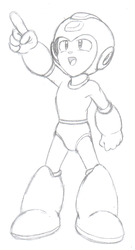 Megaman Sketch by ProfessorMegaman