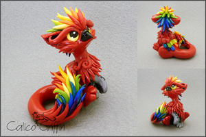 Paco - polymer clay sculpture by CalicoGriffin