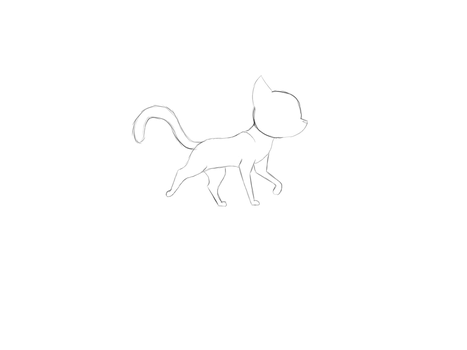 Cat walk cycle by DitzyDolphin