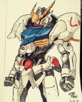 gundam barbatos by normansuarno
