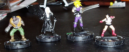 Custom Final Fantasy VII Heroclix Figures by theAngelofRedemption