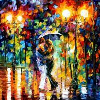 Rainy Dance by Leonid Afremov by Leonidafremov