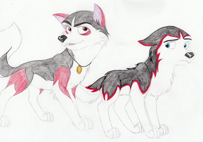 Huskies For Stitch by RainstormCheetah