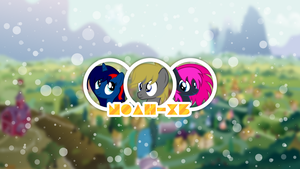 Noah-x3 OC trio Ponyville Shot Wallpaper by DJDavid98