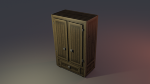 Low poly Closet by lithium-sound