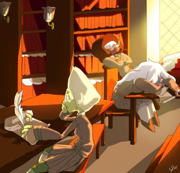 Hogwarts AU: Nerds in the Library (2/3) by Bella-Eis
