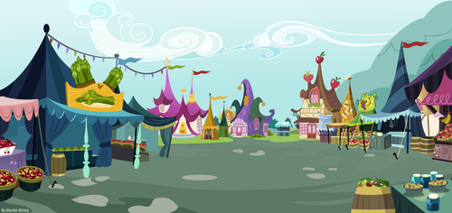 Ponyville Market by Vector-Brony