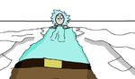 An actual Tiny Rick (Rick shrinks) by OffClaireBlue2001