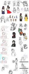 [P-NO] Almost a Years Worth of Doodles by An-Ironic-Kiwi