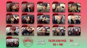 BTS War of Hormone Folder Icon Pack by nslam92
