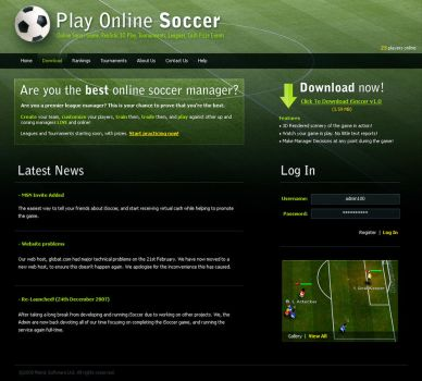 Online Soccer Website by StratocasterUK