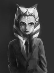 Ahsoka in a suit by Montano-Fausto