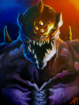 DOOM Prowler Painting by Xous54