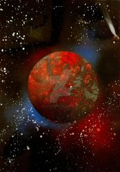 Spray Paint planet by all-day-everyday