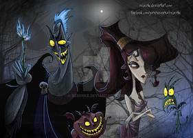 Hades and Megara Burton by rebenke