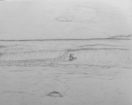 Drawing - Surfing the Afternoon by nicolasbahamondes