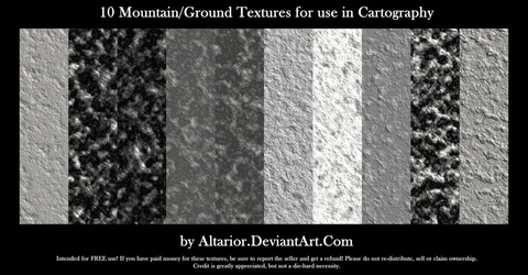 Free Mountain Textures for Cartography by Altarior