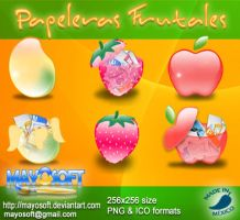 Papeleras Frutales by Mayosoft