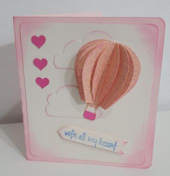 4 x 4.5 Love is In the Air Card by Monica Vasquez by UniqueDesignByMonica