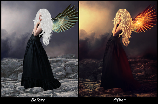 Angel: Before and After by NouoneAnyone