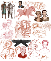 DnD| Sketch Dump VI by RomyvdHel-Art