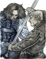 Jaime Lannister vs Winter Soldier by AdamWithers