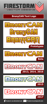BronyCAN - Text Logo History by Firestorm-CAN