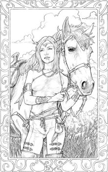 Elf Girl And Horse by staino
