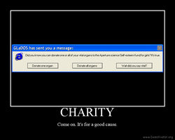 GLaDOS Charity by DiverseDeviant