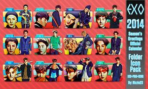 EXO 2014 Official Calendar Folder Icon Pack by Rizzie23