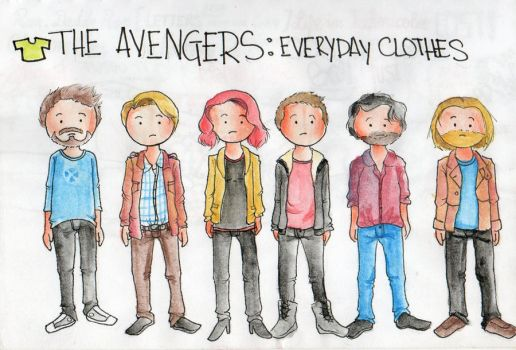 avengers: everyday clothes by NoMoreButterflies