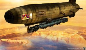 Train Dirigible by CelebrenIthil