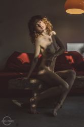 Sunlight and redhead by Zhes-photo