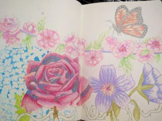 Unfinished Wax Pencil Flowers by buffydoesbroadcast