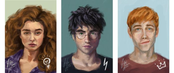 Painting practice with the Trio -HP by Asha47110