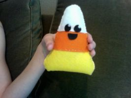 Candy Corn Plushie by MagicSprinkles