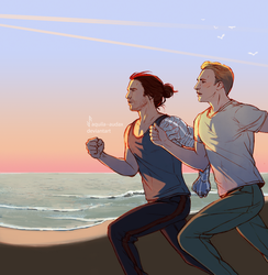 Running together by Aquila--Audax