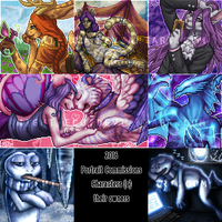 Furcadia Portrait Collage 2016 by DarkEcoKat