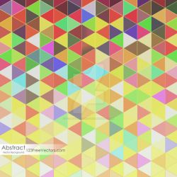 Colorful Triangle Background Free Vector by 123freevectors