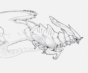 Creepy Crawly Insectoid Space Alien Dragon Thing by squidina