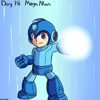 Smashvember day 18: Mega Man by thegamingdrawer