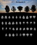 Tree Silhouettes vol.12 - European 5 by Horhew