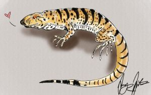 Golden Tegu by 71-Blackbird