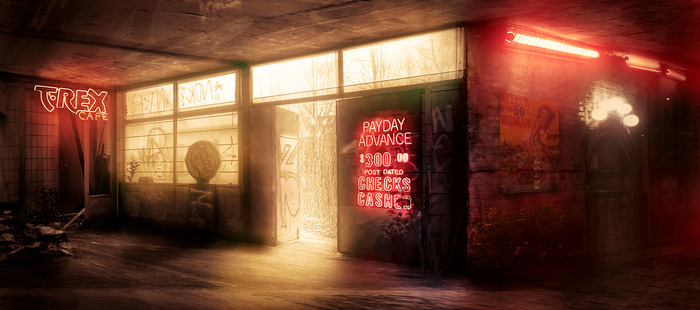 Derelict Cafe by jordangrimmer