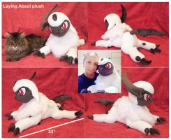 Laying Absol Plush by scilk