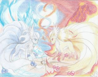 DragonTales Fire and Ice by Kimmythedragoness