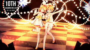 10th Anniversary - Rin + Len [Collab] by Puffywings