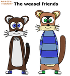 The weasel friends V2 by FluffyFerret97